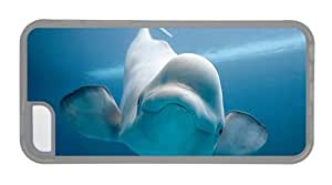 MMZ DIY PHONE CASEHipster on sale iphone 6 4.7 inch cover beluga whale TPU Transparent for Apple iphone 6 4.7 inch