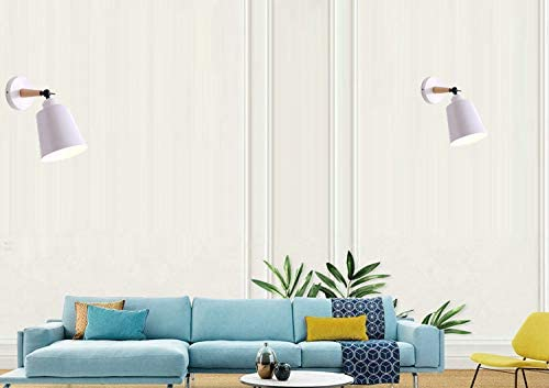 FSLIVING 55 Lumen LED-Fernbedienung Akku-Akku-Lampe Macaron White Wandleuchte Dimmbare kabellose Wandlampe für Schlafzimmer, Batterie nicht im Lieferumfang enthalten