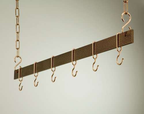 Hanging Bar Rack in Hammered Copper (36 in.)