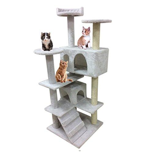 Hongyans Estación de árboles y duchas Cat Play - para Mascotas con Postes de Juguete con Plataforma para Gatito: Amazon.es: Productos para mascotas
