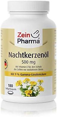 Cápsulas de Aceite de Onagra 500mg de ZeinPharma • 180 cápsulas (un mes de suministro) • sin gluten, vegano, kosher y halal • Hecho en Alemania: Amazon.es: Salud y cuidado personal