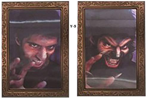 Horror Scary Ghost Craft Photo Frame for Halloween Birthday Party Decoration -