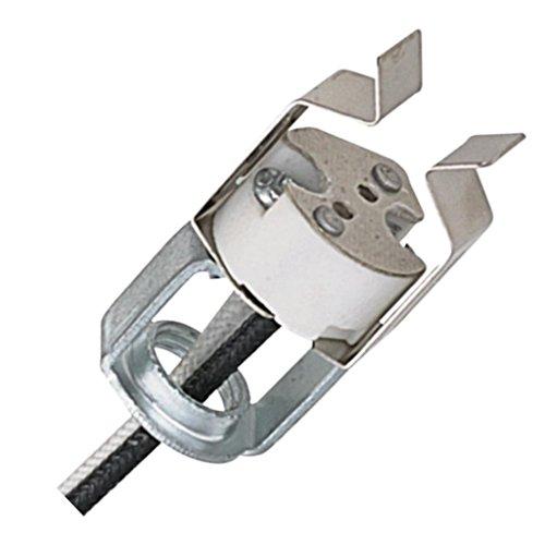 General 27991 - MR16 Porcelain Bi-Pin Halogen Socket (MR16 SKT-CLIP+HKY-10IN SF-2 LDS D3996)