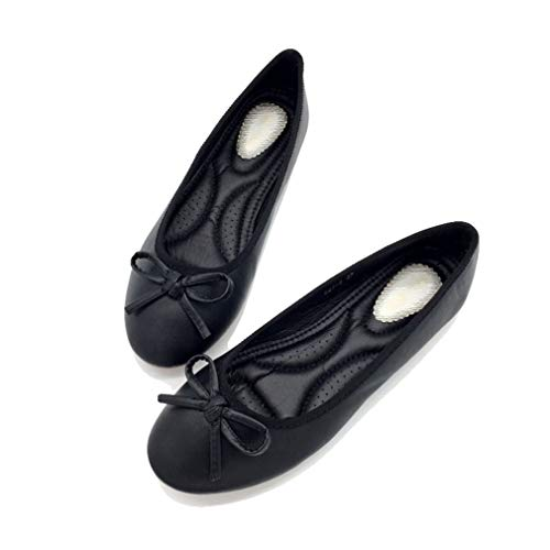 August Jim Women's Flat Shoes,Anti-Slip Round Toe Cute Casual Ballet Shoe ()