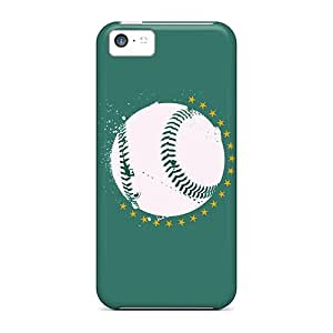 Shock-Absorbing Hard Cell-phone Case For Iphone 5c (ozc19716IJYz) Customized Colorful Oakland Athletics Image