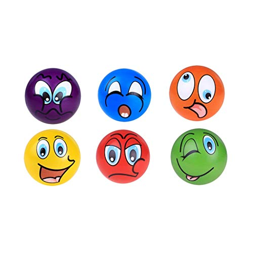Cyhulu Cream Scented Emotion Ball Squishies Toy Stress Reliver for Party Favors Ball Toys(6 Pack), Kids Best Christmas Gifts ()