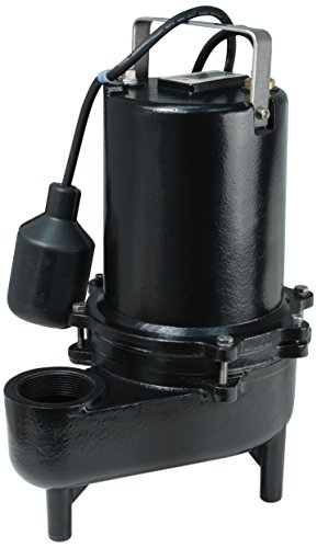 ECO-FLO Products ESE60W Cast Iron Sewage Pump with Wide Angle Switch,  6/10 HP, 9,910 GPH