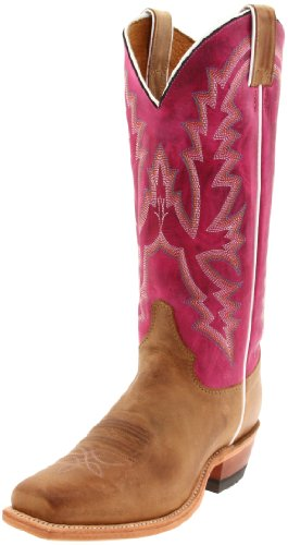 """Justin Boots Women's U.S.A. Bent Rail Collection 13"""" Boot Wide Square Single Stitch Toe Leather Outsole,Burnished Tan """"America""""/Burnished Tan """"America""""/Violeta Calfa Calf,9 B US"""