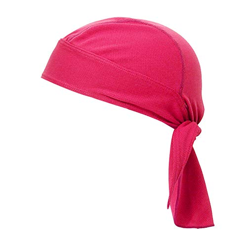 TOPTIE Do Rag Cycling Pirate Hat Cooling Skull Cap Under Helmet Headware-Hot Pink (Motorcycle Due Rags)