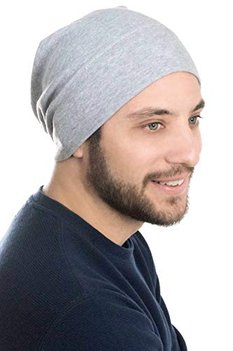 Headcovers Unlimited Mens Relaxed Beanie | 100% Cotton Beanie Hats for Guys