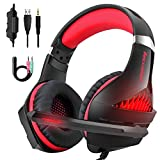 Beexcellent PS4 Headset with Mic, X-Box One Headset with Microphone, PC Gaming Headset for Windows and Mac OS PC, Computer Game Headphones