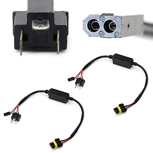 iJDMTOY (2) Easy Relay Harness For H4 9003 Hi/Lo Bi-Xenon Headlight Lighting Kit Xenon Bulbs Wiring Controllers