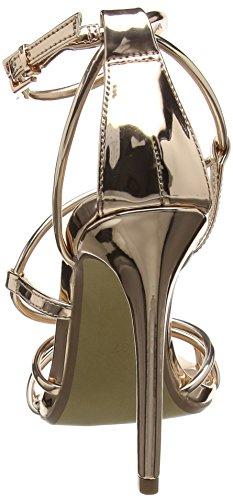 Gold Caviglia 15002 Steve Cinturino Smith Scarpe Madden Oro Sandal alla Rose Donna con 7q0SPqaWxw