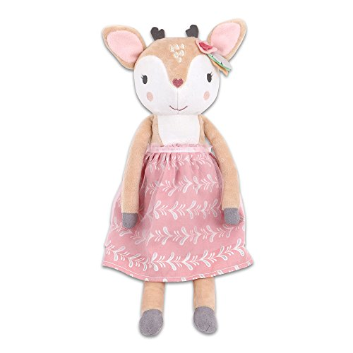 Whimsy Stripes - Woodland Whimsy Deer Plush by The Peanut Shell