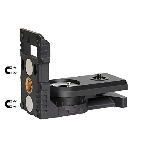 a4d487acd5 Laser Level L-Shape Laser Level Adapter - Huepar Magnetic Pivoting Base for  Wall &