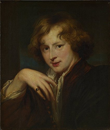 Oil Painting 'After Anthony Van Dyck - Portrait Of The Artist,about 1750-1825' 16 x 19 inch / 41 x 48 cm , on High Definition HD canvas prints, gifts for - Ray Jim Mobile Homes