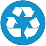 """Recycle SIGN Blue sticker decal 4"""" x 4"""""""