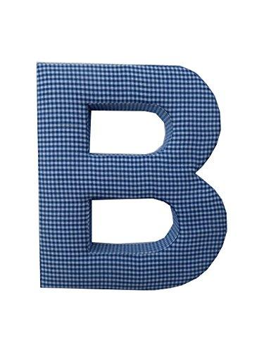 (Letter B Fabric Wall Letter - Blue Gingham - LETTER)