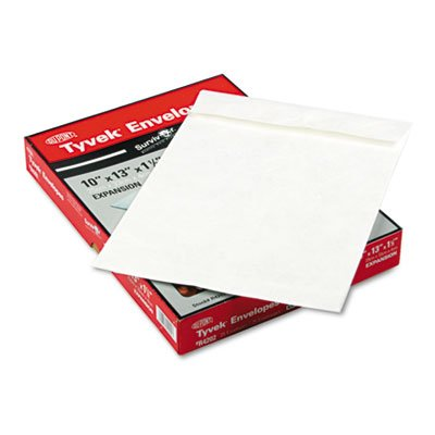 Tyvek Expansion Mailer, 10 x 13 x 1 1/2, White, 25/Box, Total 200 EA by Survivor