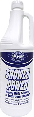 (Shower Power - Powerful Bathroom Cleaner From Concentrate - Tub and Shower Cleaner - Cleans Tubs, Toilets, Urinals, Fixtures & More-1 Qt. )