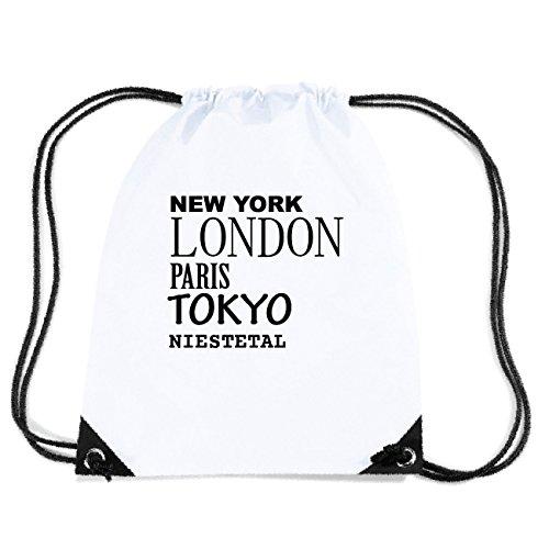 JOllify NIESTETAL Turnbeutel Tasche GYM2370 Design: New York, London, Paris, Tokyo