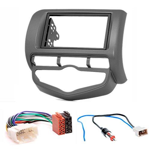 CARAV 11-385-12-2 Radioblende Car 2-DIN in Dash installation kit Set mit ISO and Antennenadapter Kabel