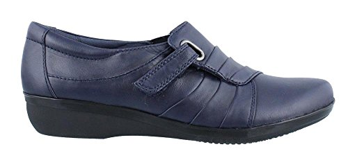 Clarks Womens Everlay Luna Slip-on Mocassino Blu Scuro