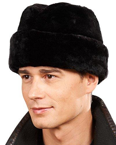 - frr Black Sheared Beaver Russian Cossack Hat - M