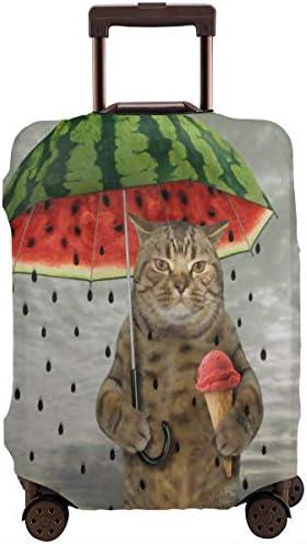 スーツケースカバー キャリーカバー 猫 スイカ 雨 アイスクリーム 面白い ラゲッジカバー トランクカバー 伸縮素材 かわいい 洗える トラベルダストカバー 荷物カバー 保護カバー 旅行 おしゃれ S M L XL 傷防止 防塵カバー 1枚