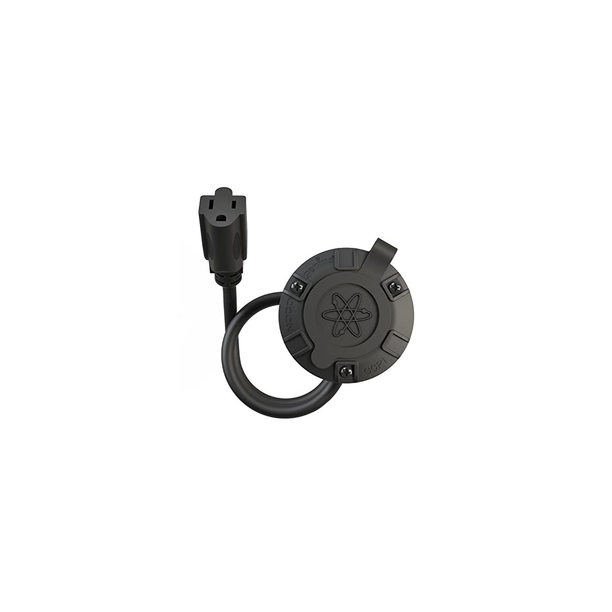 NOCO Black GCP1 15 Amp 125V AC Port Plug with 16-Inch Integrated Extension Cord