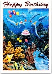 Amazon hawaiian happy birthday greeting card dolphin party hawaiian happy birthday greeting card dolphin party m4hsunfo