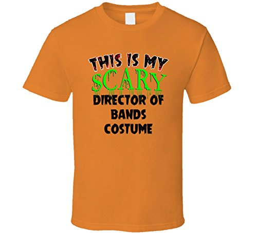 Band Director Halloween Costume (This is My Scary Director of Bands Halloween Costume Trending Job T Shirt S Orange)