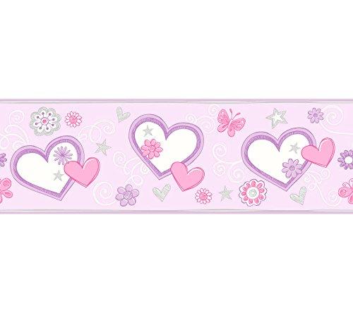 Brewster 2679-50123 Kids Heart Felt Doodle Lilac Border ()