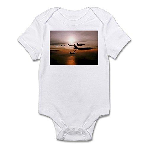 (CafePress F-16 Falcons Refueling Infant Bodysuit - Cute Infant Bodysuit Baby Romper)
