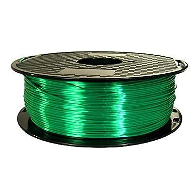 Silk Jade Green 3D Printer Filament PLA 1.75 mm 1 KG (2.2 LBS) Shine Silky Shiny Green PLA CC3D ZHUOPU