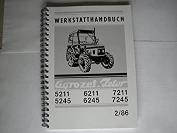 Workshop Manual Zetor 5211 7245: Amazon co uk: Car & Motorbike