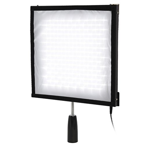 "Polaroid Flexible LED Lighting Panel with 4-Channel Remote Control – Moldable, Slim, Ultra Bright Light for Photography – 12x12"", CRI>90, 5500K, 256 LEDs, Max 4500LM by Polaroid Originals"