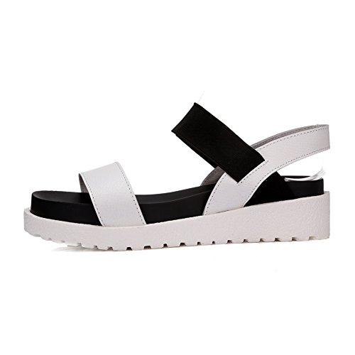 AdeeSu Womens Platforms-Sandals Puncture-Resistant Oversized Urethane Platforms Sandals SLC03853 White 5BKs5