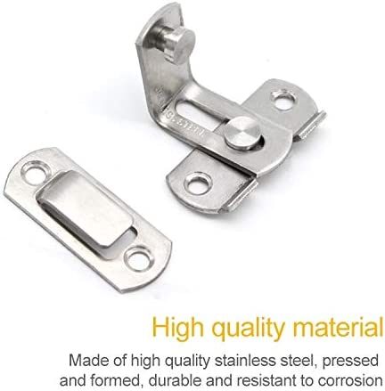 Cabinet Hardware 2 PCS Security Door Stainless Steel 90 Degree Right Angle Door Buckle Corner Insert
