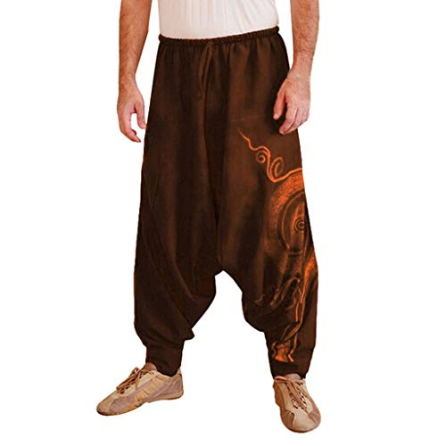 Stampata Yoga Elecenty Uomo Tuta Di Marrone Lavoro Sportivi Da Etnica Casual Pantaloni TIvTq