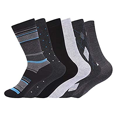 Women's Modal Super Smooth Skin Care Dress Socks 6 Pairs by JOURNOW