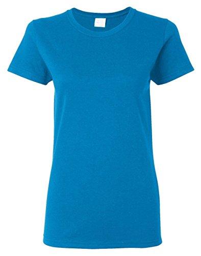 (Gildan Women's Heavy Crewneck Cap Sleeve T-Shirt, X-Large, Heather Sapphire)