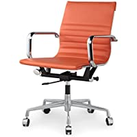 Meelano 348-ORN Office Chair in Vegan Leather, Orange
