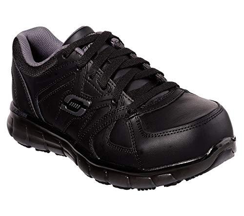 Skechers Work Synergy Sandlot Womens Alloy Toe Sneakers Black/Gray 7.5 ()