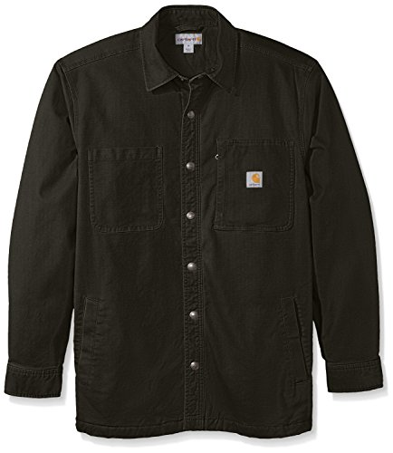 Carhartt Men's Rugged Flex Rigby Shirt Jacket, Peat, Medium