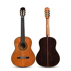 LOIKHGV Gitarre- Professionelle Klassische Gitarre aus Massivholz (39 Zoll), wie abgebildet
