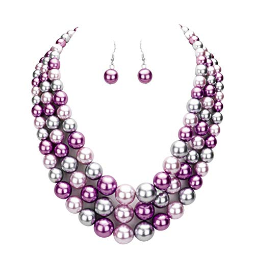 Frosted Bead Necklace - 5