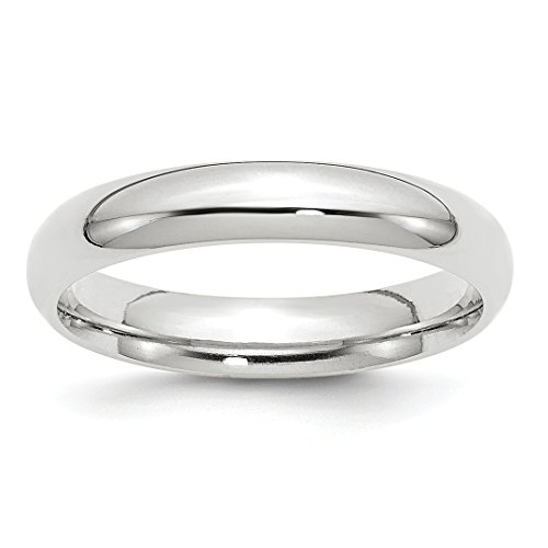 ICE CARATS 14kt White Gold 4mm Comfort Fit Wedding Ring Band Size 10.50 Classic Domed Cf Style Fine Jewelry Ideal Gifts For Women Gift Set From Heart 14kt Gold Comfort Fit Band