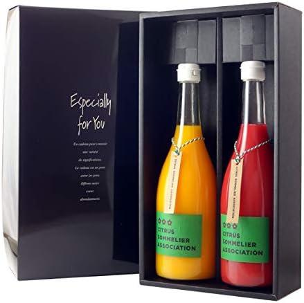 【ギフト高級箱 飲み比べみかんジュース】ソムリエ 温州みかん・ブラッドオレンジジュース 720ml【2本セット】