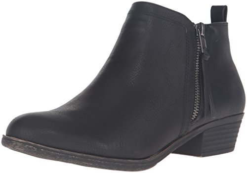 Rampage Women's Tarragon Ankle Bootie, Black, 9.5 M US
